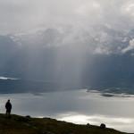 Regnbyge over Lyngenfjorden