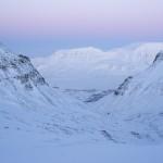 Longyearbyen sett frå Larsbreen.