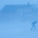 Storm i Longyearbyen.